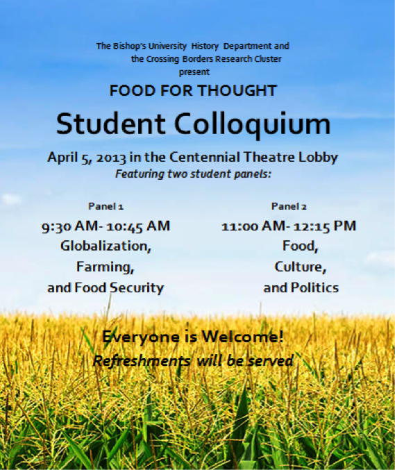 Student Colloquium—Food for Thought